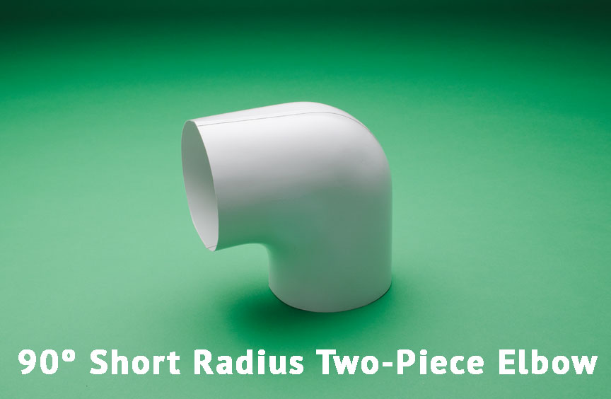90º Short Radius Two-Piece Elbow