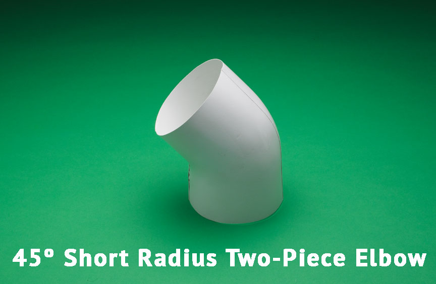 45º Short Radius Two-Piece Elbow